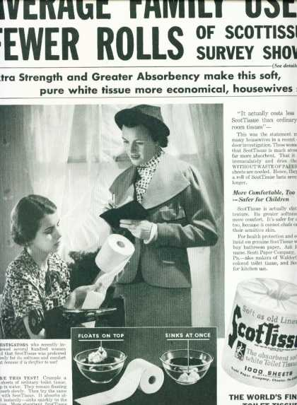 Scottissue Toilet Paper Ad Thriftier To Use (1936)
