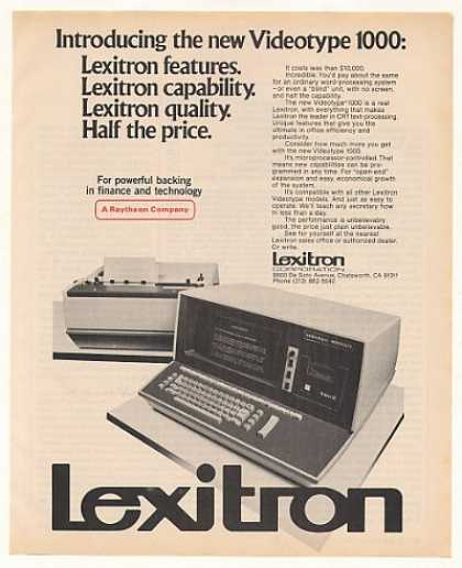 Lexitron Videotype 1000 Word Processing System (1978)