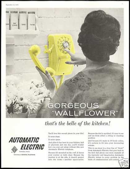 Automatic Electric Yellow Telephone Kitchen (1958)