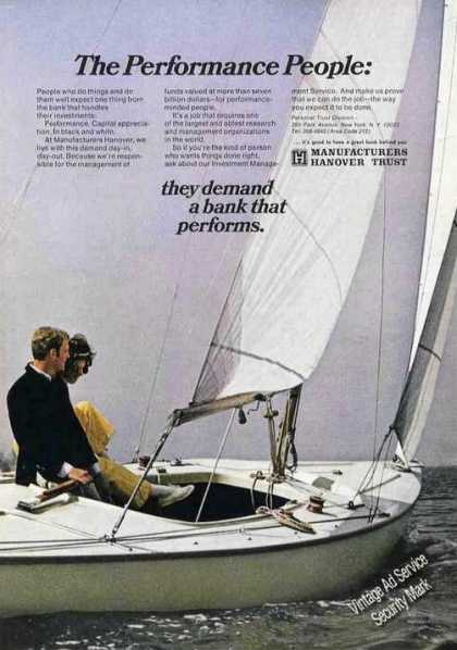 Manufacturers Hanover Prformnce People Sailboat (1970)