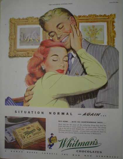Whitman's Chocolates Woman never forgets (1946)