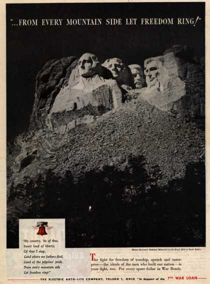 """Electric Auto-Lite Co.'s 7th War Loan – """"...From Every Mountain Side Let Freedom Ring!"""" (1945)"""