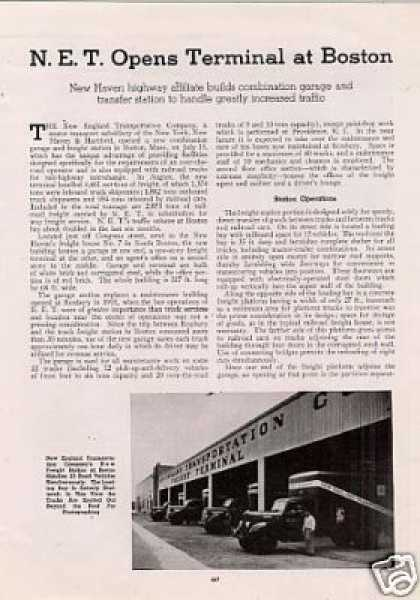 """""""N.e.t. Opens Terminal at Boston"""" Article/nh (1941)"""