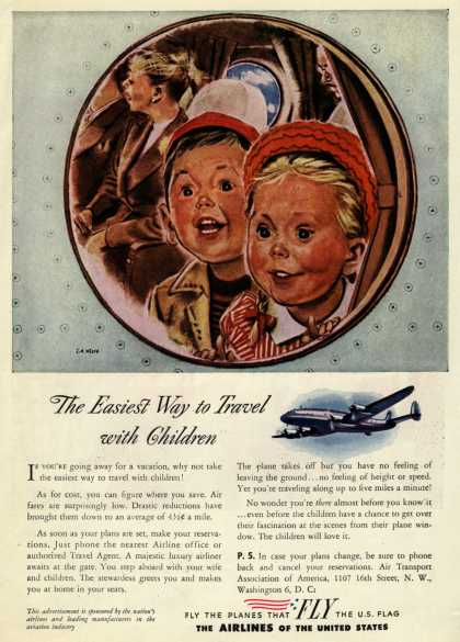 The Airlines of the United State's Air Travel – The Easiest Way to Travel with Children