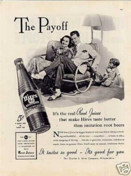 """Hires Root Beer Ad """"The Payoff... (1937)"""