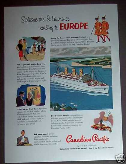 Canadian Pacific Cruise Ship White Empress (1953)