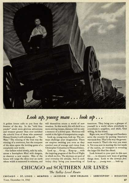Chicago and Southern Air Line's war support – Look up, young man... look up... (1942)