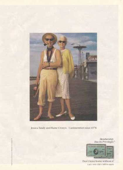 American Express – Jessica Tandy & Hume Cronyn – Sold (1990)