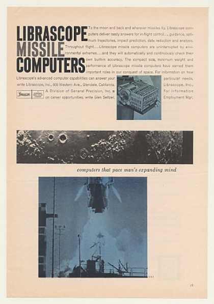 Librascope Missile Computers Moon Space (1960)