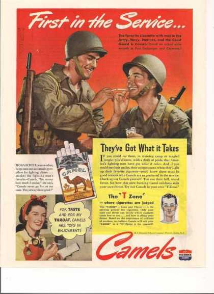 First In the Service Camel Cigarettes Prin (1943)