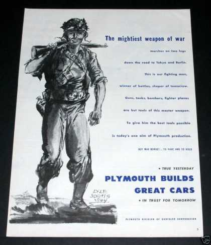 Plymouth, Wartime, Justice Art (1944)