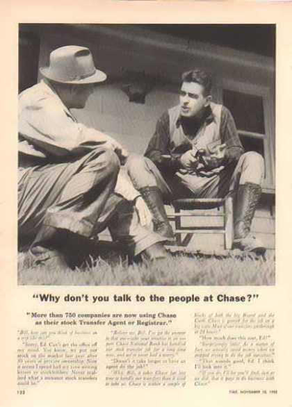 Chase Bank – talk to Chase (1952)