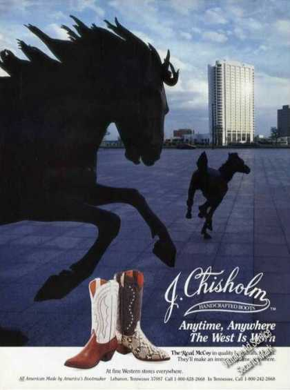 J Chisholm Handcrafted Boots Anytime Anywhere (1988)