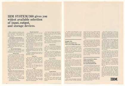 IBM System/360 Computer Widest Devices (1965)