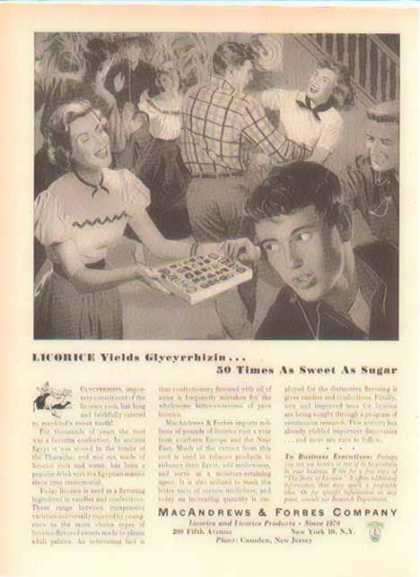 Licorice Products – MacAndrews & Forbes Company (1952)
