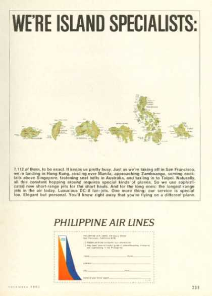 Philippine Air Lines Island Specialist Map (1965)