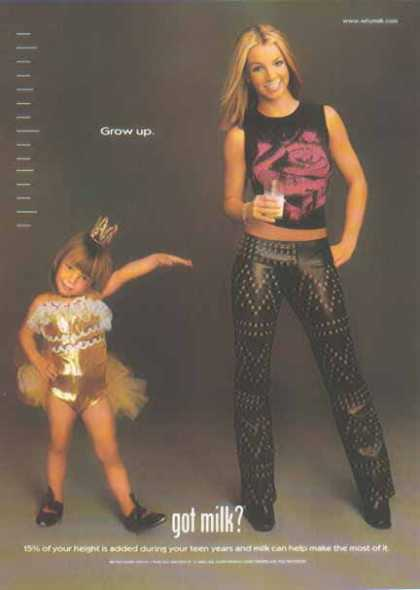 Britney Spears at 3 and 18 – GOT MILK? (2000)