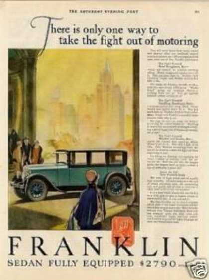 """Franklin Car Color Ad """"There Is Only One... (1927)"""