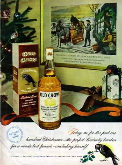 Old Crow Whiskey Christmas – Holiday Cheer in Old KY (1948)