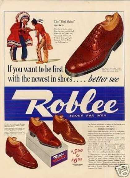 Roblee Mens Shoes (1940)