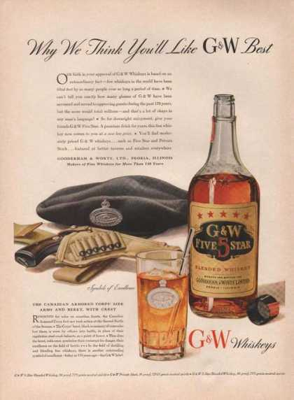 Symbols Excellence G & W Whiskeys (1942)