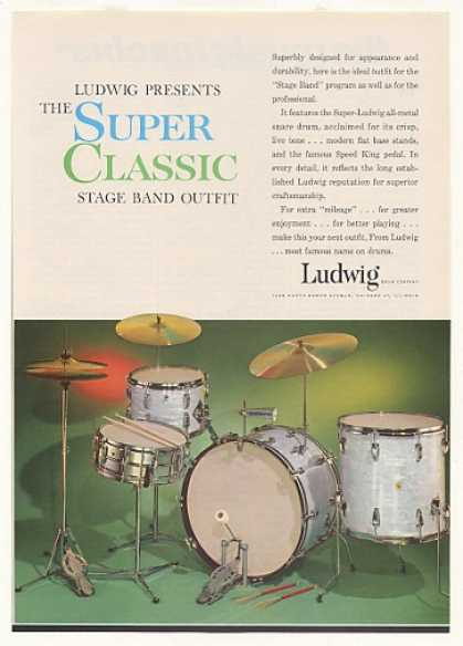 Ludwig Super Classic Stage Band Drums (1963)