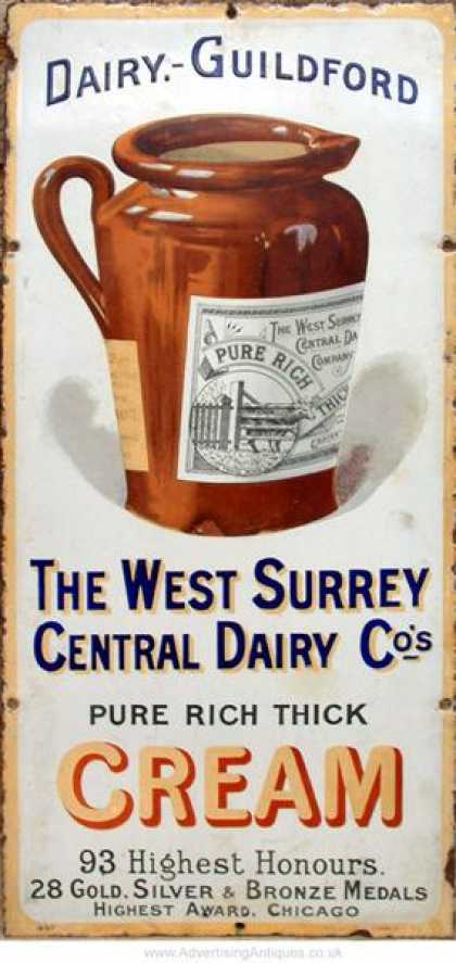 Guildford dairy Cream Sign
