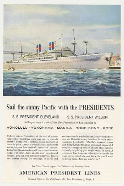 American President Lines SS Pres Cleveland Ship (1956)