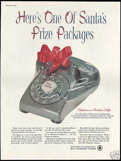 Bell Telephone System Rotary Dial Phone Xmas (1956)