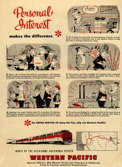 Western Pacific – Personal Interest makes the difference (1952)