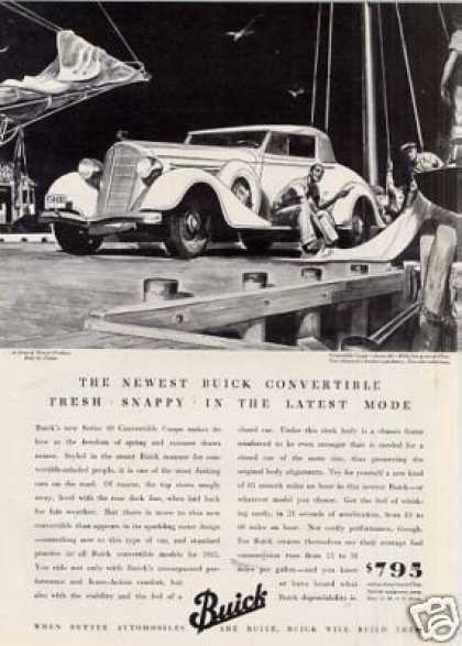 Buick Convertible Coupe Ad Seies 40 (1935)