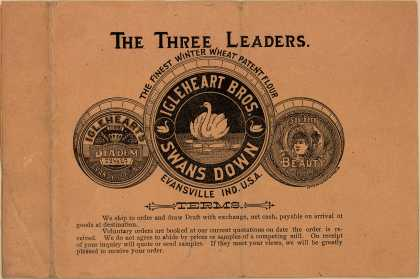 Inglehart Brother's Swan's Down Flour, Diadem and Southern Beauty Flour – The Three Leaders
