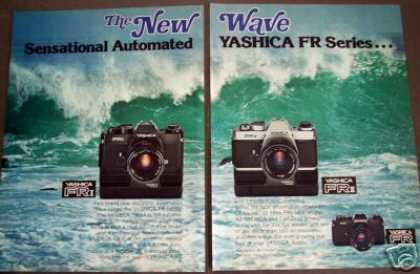 Yashica Fr Series 35mm Slr Cameras Photography (1978)