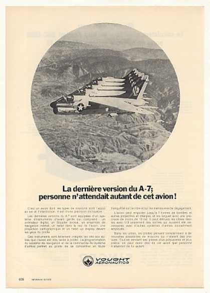 Vought A-7 Aircraft Photo Vintage French (1972)