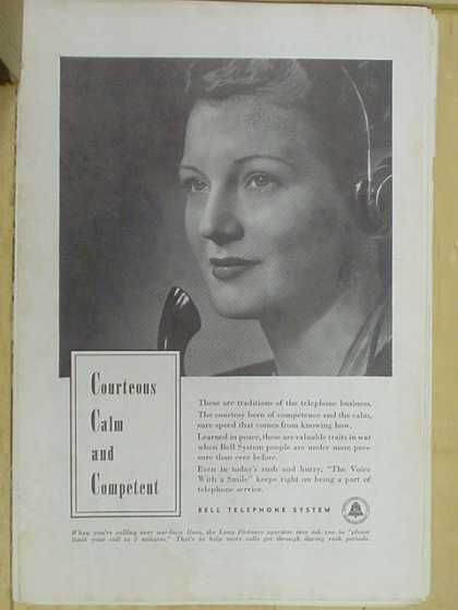 Bell Telephone System Courteous calm and competent (1941)
