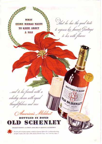 Old Schenley Christmas – What Every Woman Wants (1940)