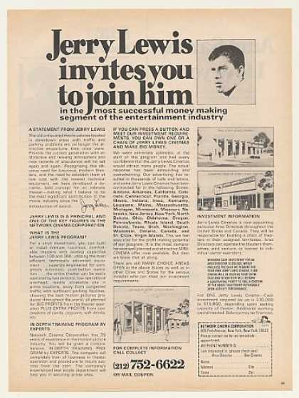 Jerry Lewis Cinema Franchise Investment (1971)