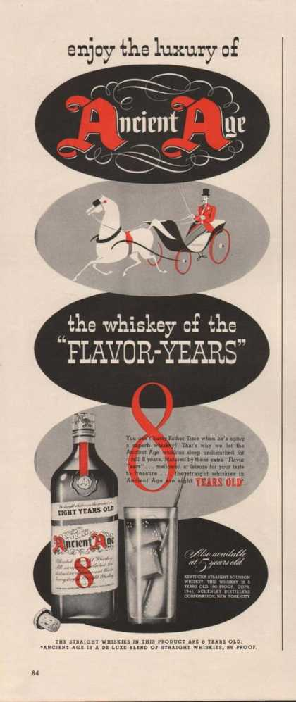 Enjoy the Luxury of Ancient Age Whiskey (1941)