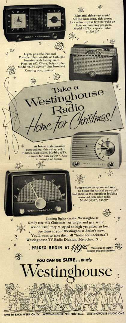 Westinghouse Electric Corporation's Various – Take a Westinghouse Radio Home for Christmas (1953)