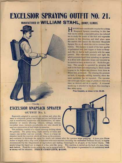 William Stahl Co.'s Excelsior Spraying Outfit No. 21 – Excelsior Spraying Outfit No. 21