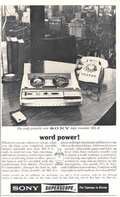 Sony Superscope Tape Recorder 801-a (1964)