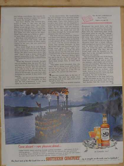 Southern Comfort Whiskey. Steamboat theme (1955)