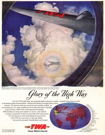 Trans World Airline's TWA airlines – Glory of the High Way (1947)