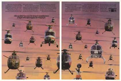 GM Allison Light Helicopter Engines 2-Page (1986)
