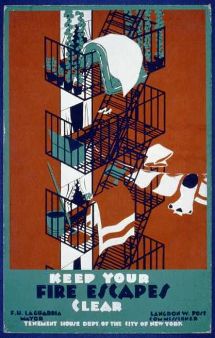 Keep your fire escapes clear. (1936)