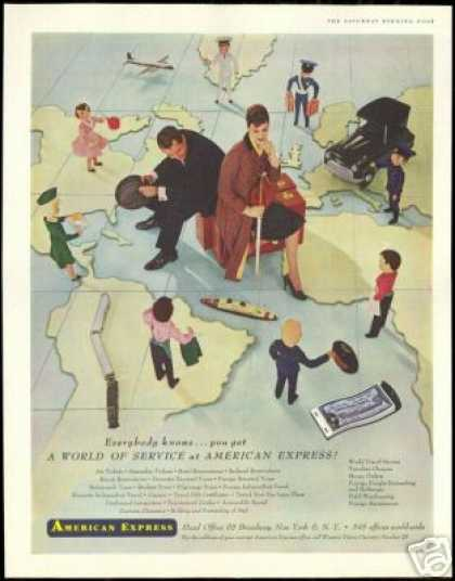 American Express World of Service Map (1956)