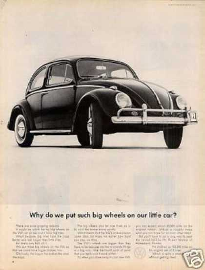"""Volkswagen Beetle Car Ad """"Why Do We Put... (1962)"""