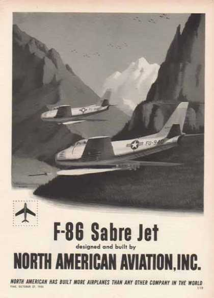 North American Aviation – U S Air Force F86 Sabre Jets – Sold (1952)