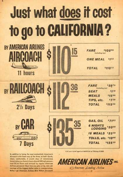 American Airlines – Just What Does it Cost to Go to California? (1954)