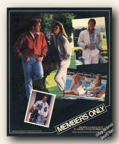 Members Only Clothing Advertising (1986)